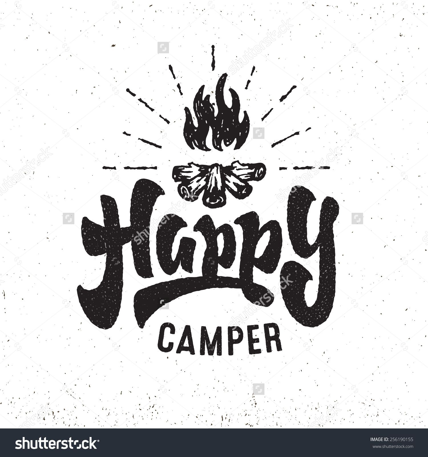 Bonfire stock vectors clip. Camper clipart vector