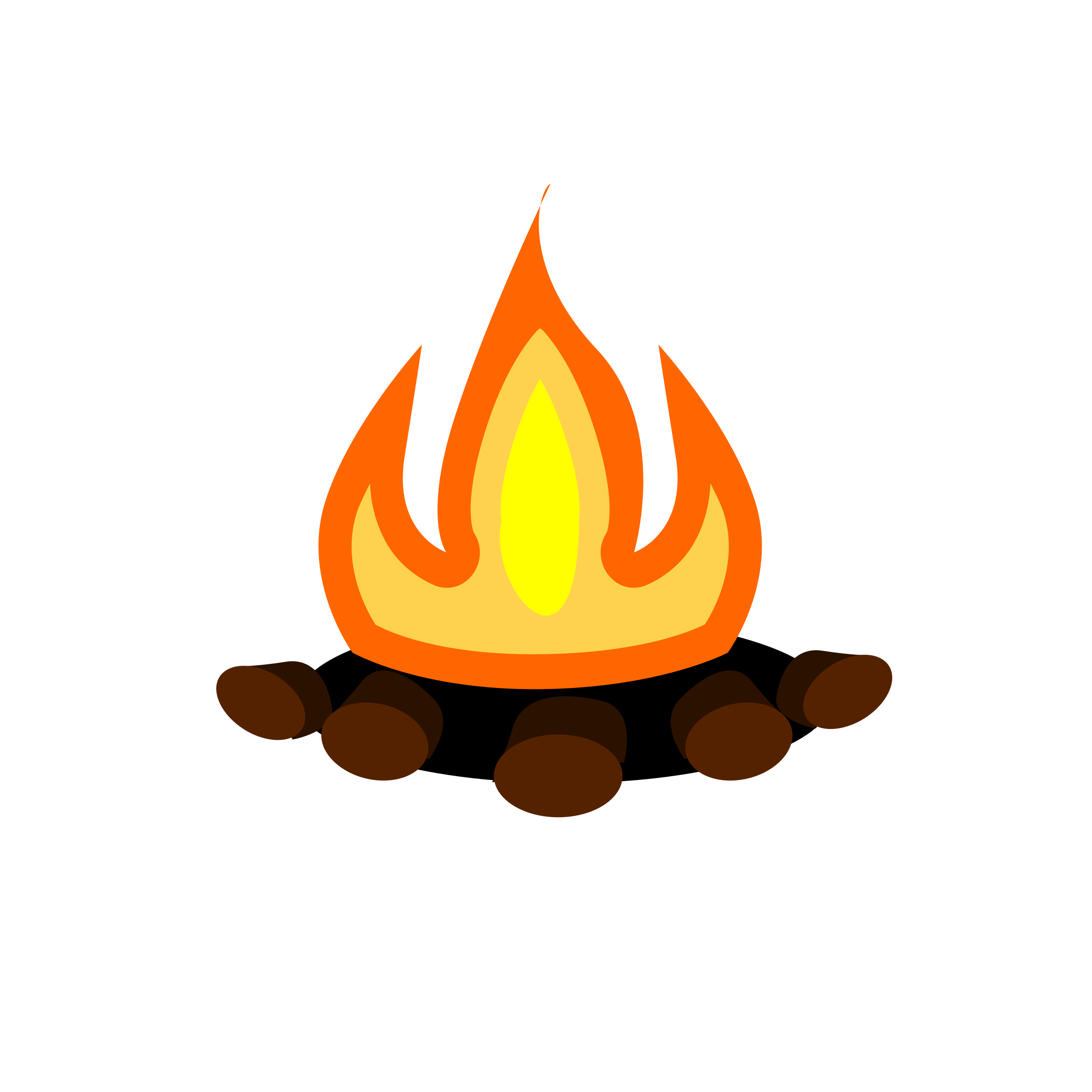 Smore bonfire halloween clip. Campfire clipart transparent background