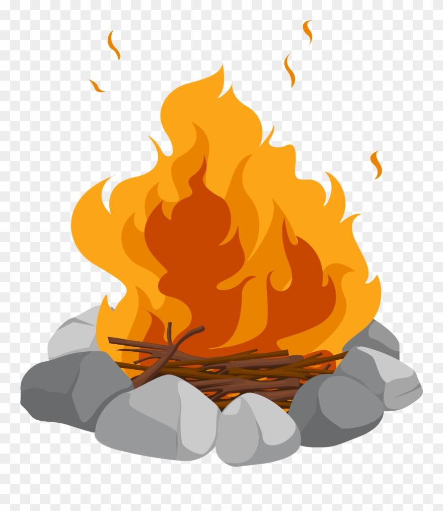 Campfire clipart bonfire. Cartoon clip art heap