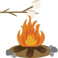 Pin by patty hart. Bonfire clipart campground