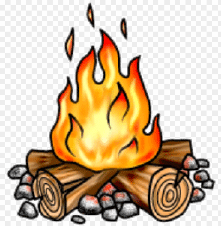 Bonfire clipart campground. Free stock small campfire