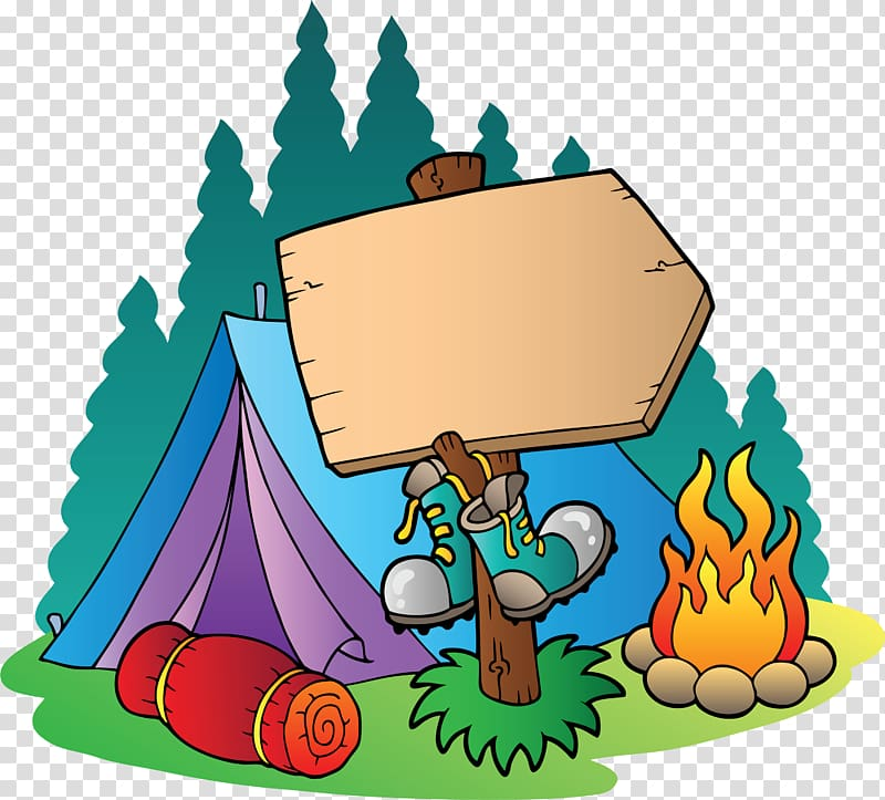 Camping signage tent . Campfire clipart campsite