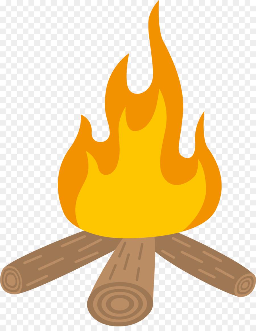 Bonfire camping campsite cartoon. Campfire clipart comic