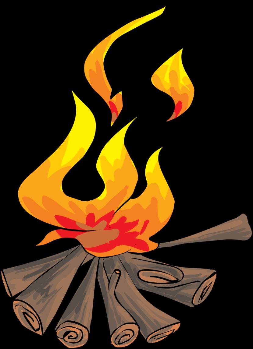 Clipart house fire. Bonfire huge