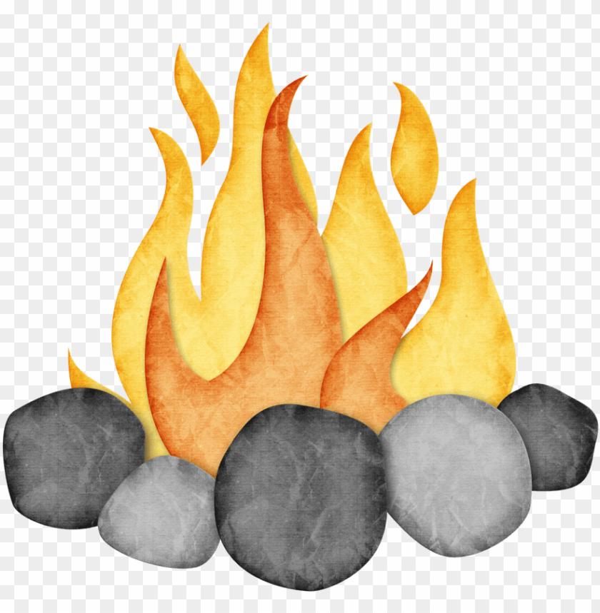 Bonfire clipart cute.  png files campfire