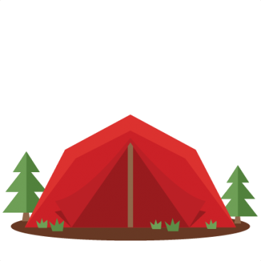 Silhouette camping at getdrawings. Bonfire clipart cute