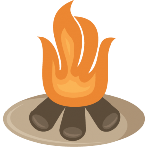 Bonfire clipart cute. Camping outdoors miss kate