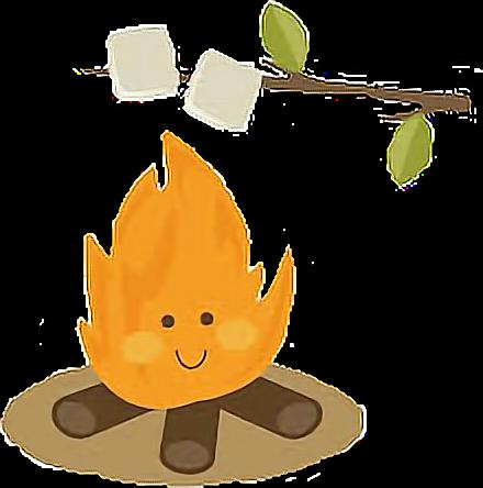 bonfire clipart cute