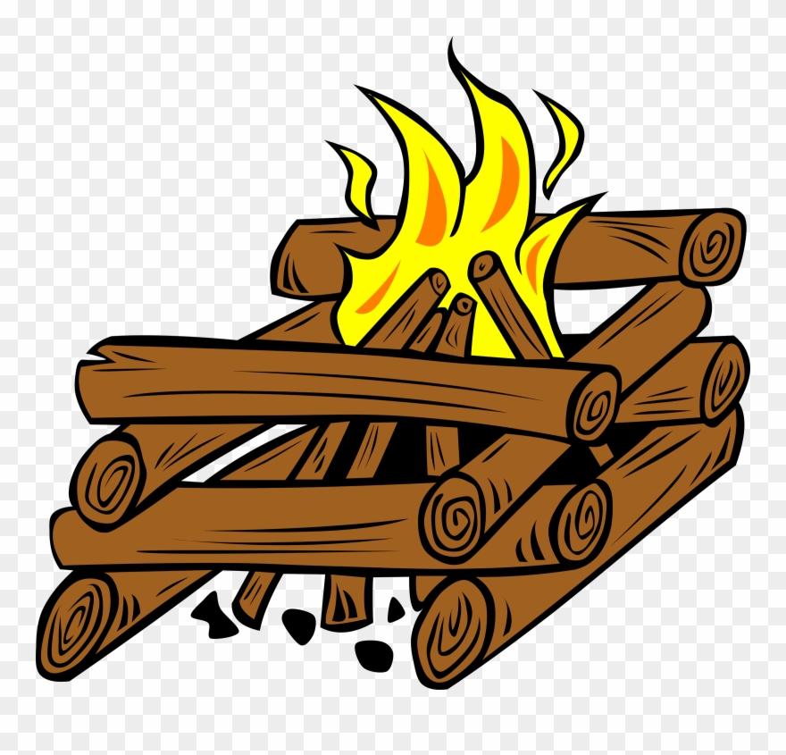 Camp images free download. Bonfire clipart fire log