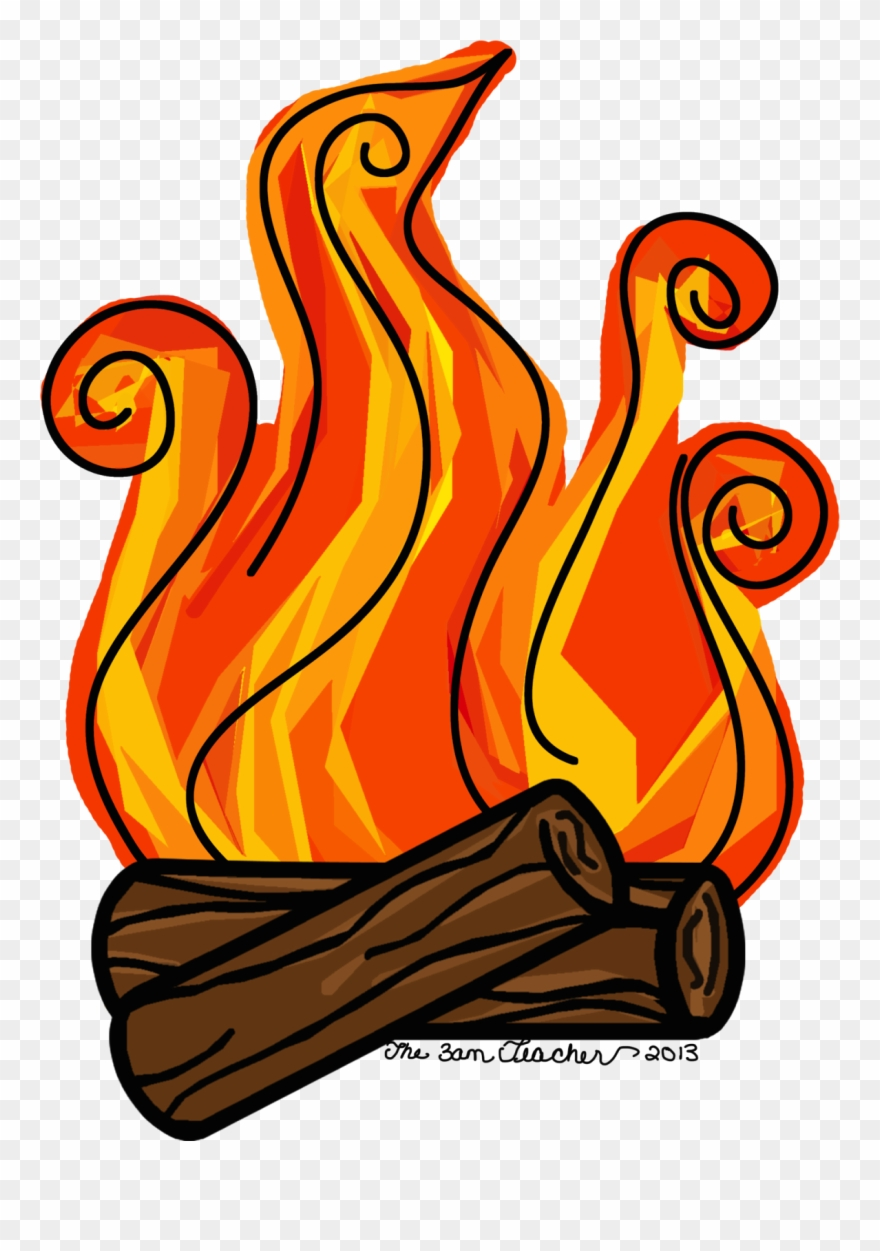 Fire in clip art. Fireplace clipart campfire