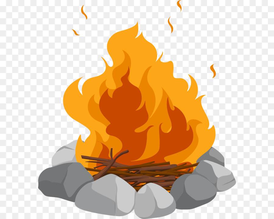 bonfire clipart firewood