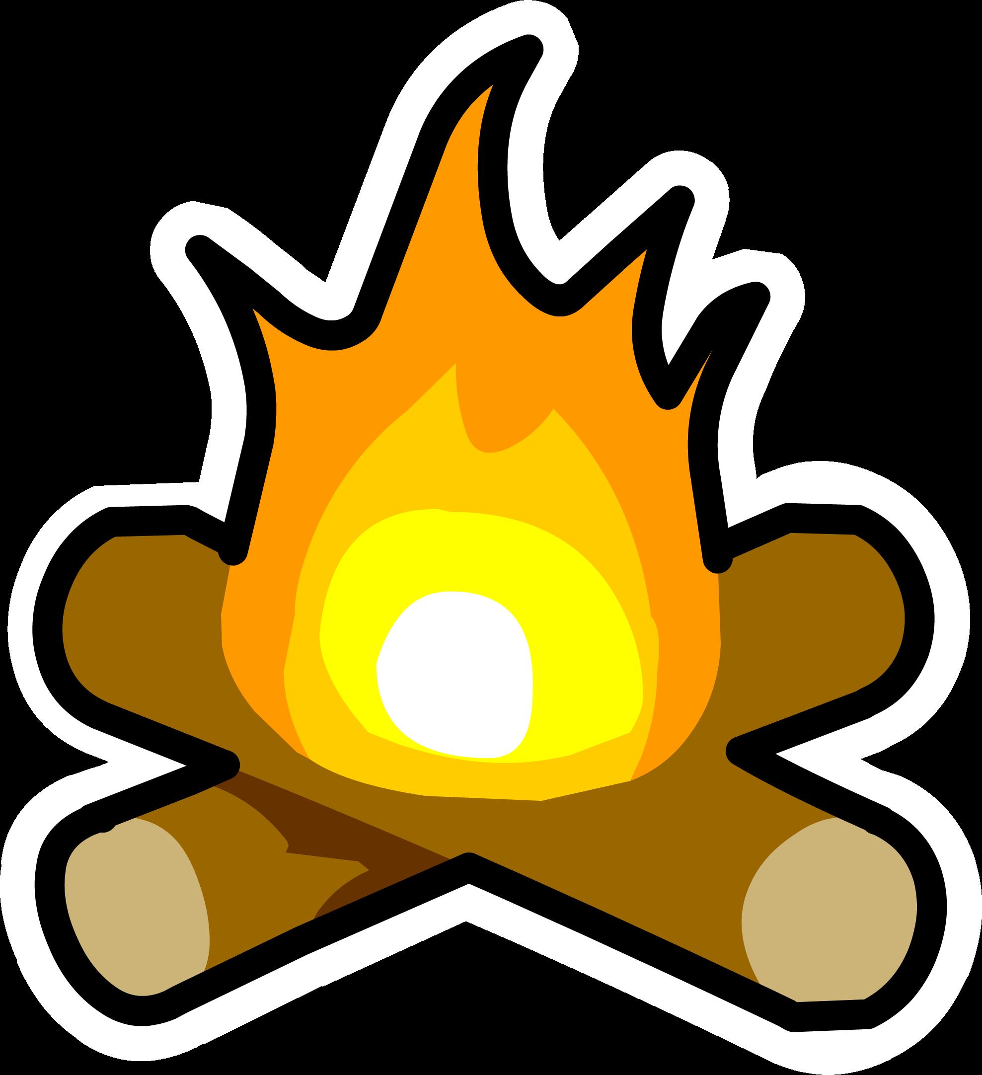 Clipart fire campfire. Bonfire pin club penguin