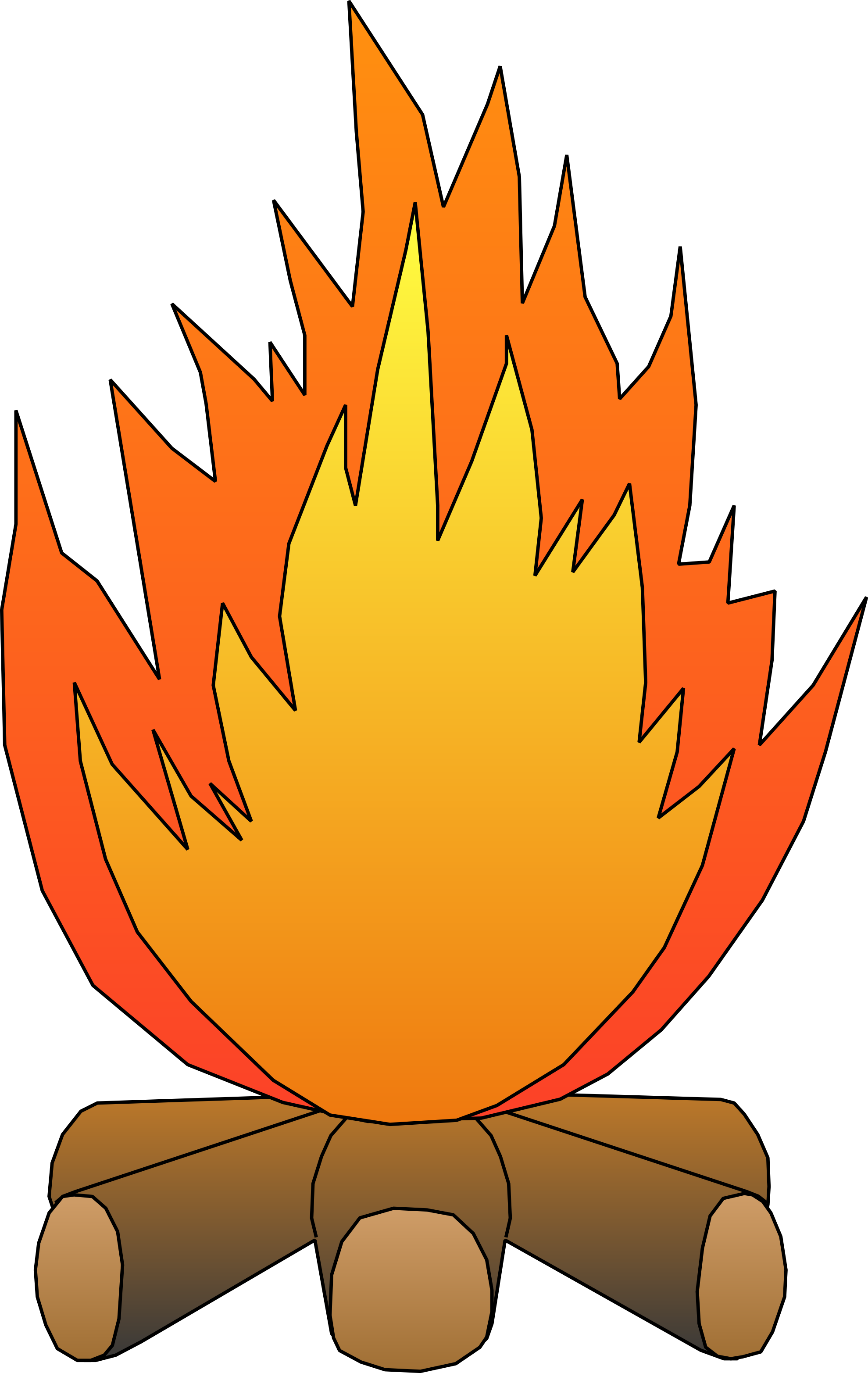 clipart fire chimney fire