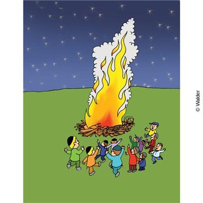 Dancing around a bonfire. Campfire clipart dance
