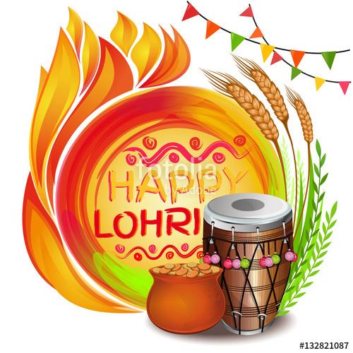 Bonfire clipart lohri. Colorful background for punjabi