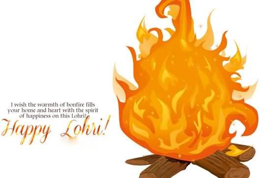 most beautiful wish. Bonfire clipart lohri