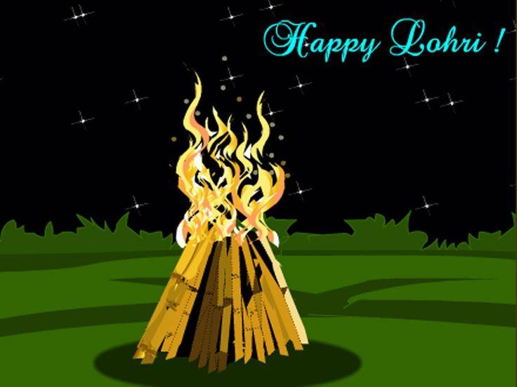 Bonfire clipart lohri. Happy