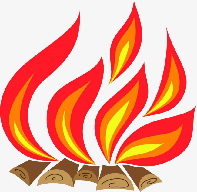 Bonfire clipart painted. Hand fire flame png