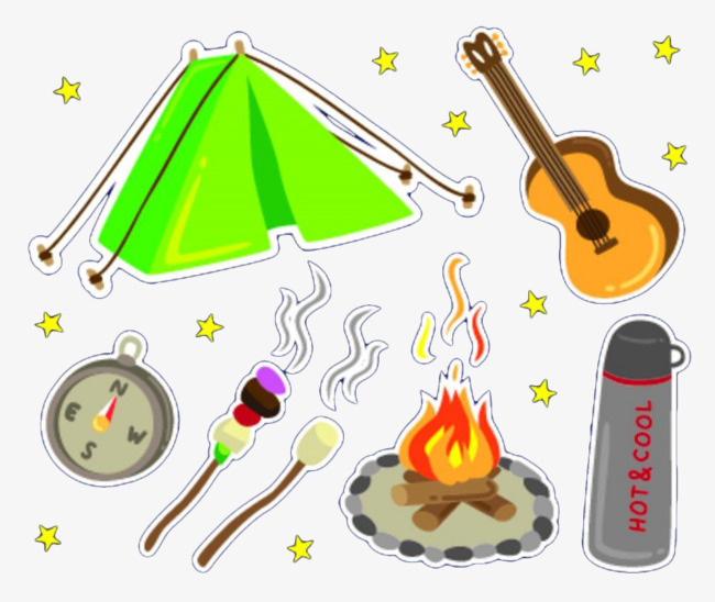 Bonfire clipart painted. Hand party flame campfire