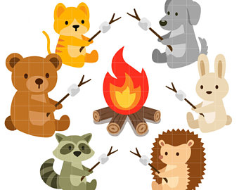 Camper clipart roasting marshmallow. Clip art etsy toasting