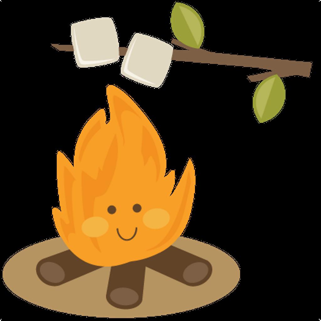 Bandaidgirl cute cartoon bonfire. Clipart fire marshmallow