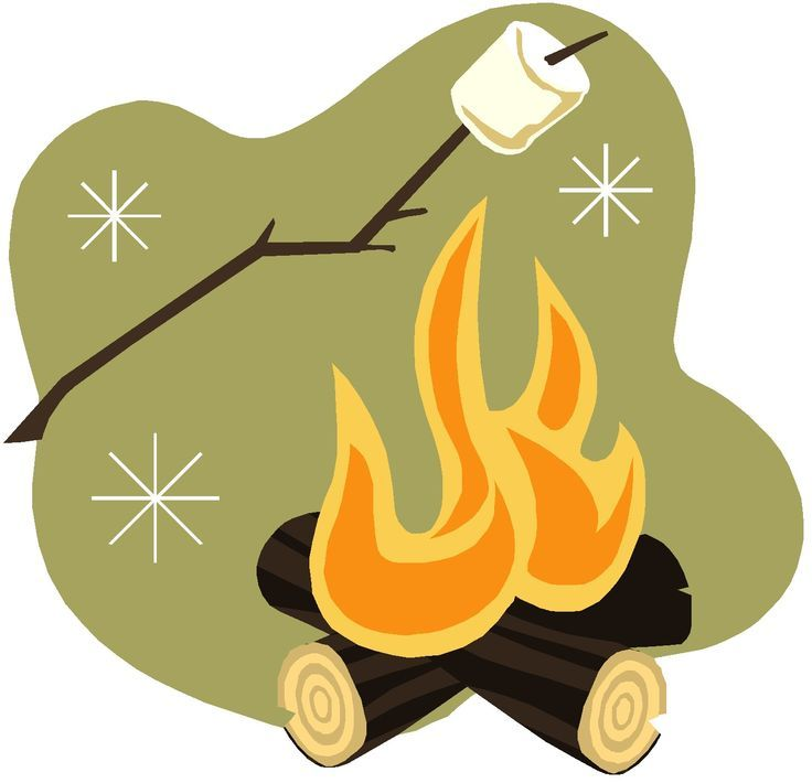 Logo garden young camp. Camper clipart roasting marshmallow