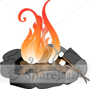 Camper clipart roasting marshmallow. Campfire with marshmallows christian