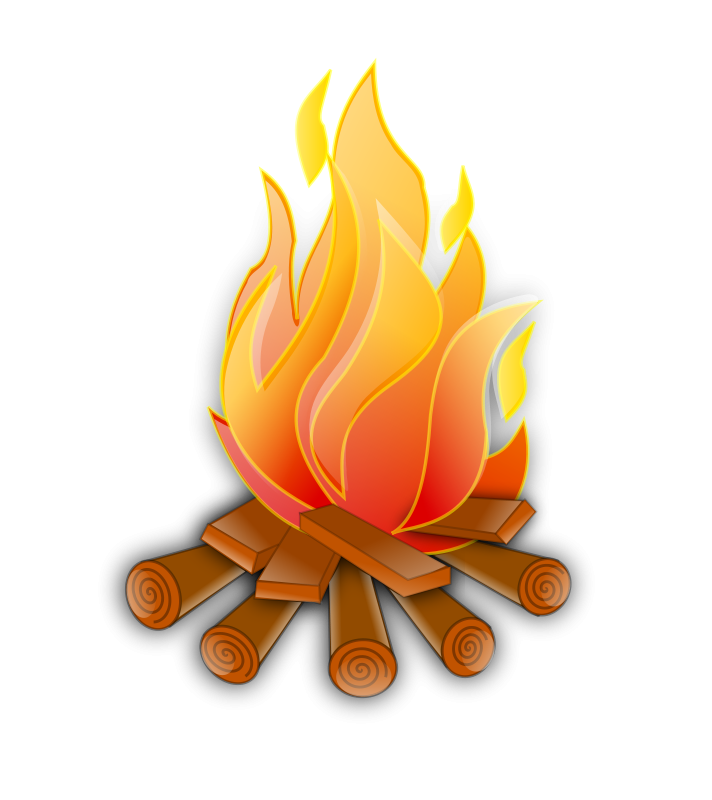 Woodland clipart camping. Fire camp theme free
