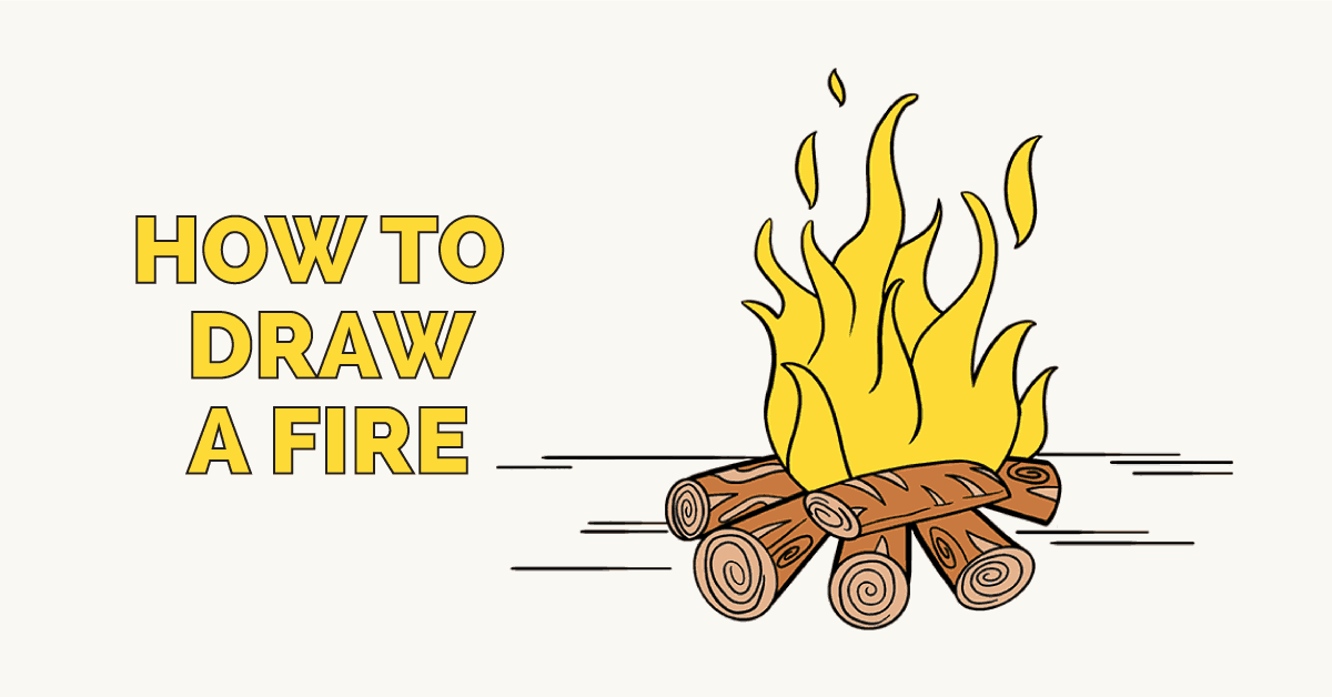 How to draw a. Campfire clipart easy