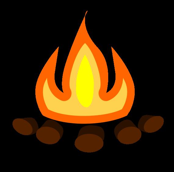 bonfire clipart simple