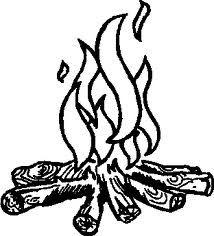 bonfire clipart sketch