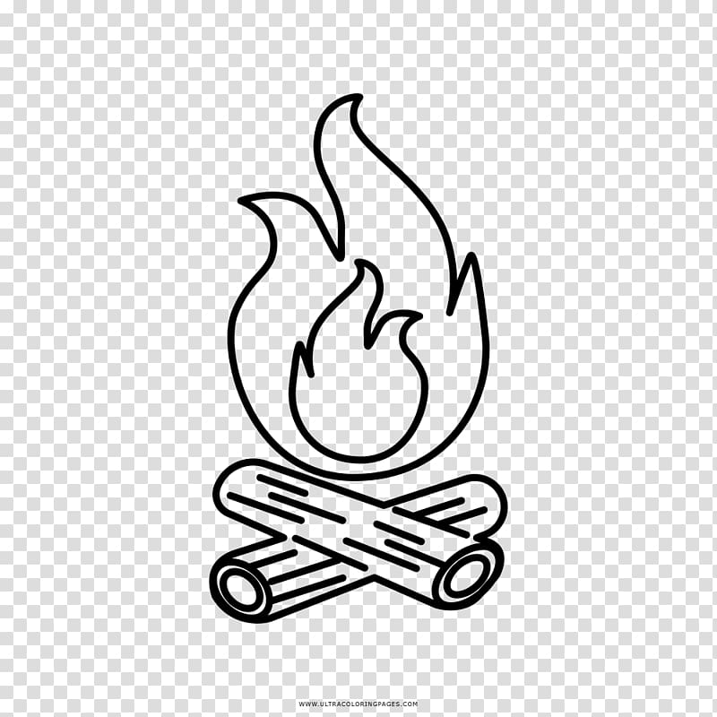 Campfire clipart sketch. Black and white drawing