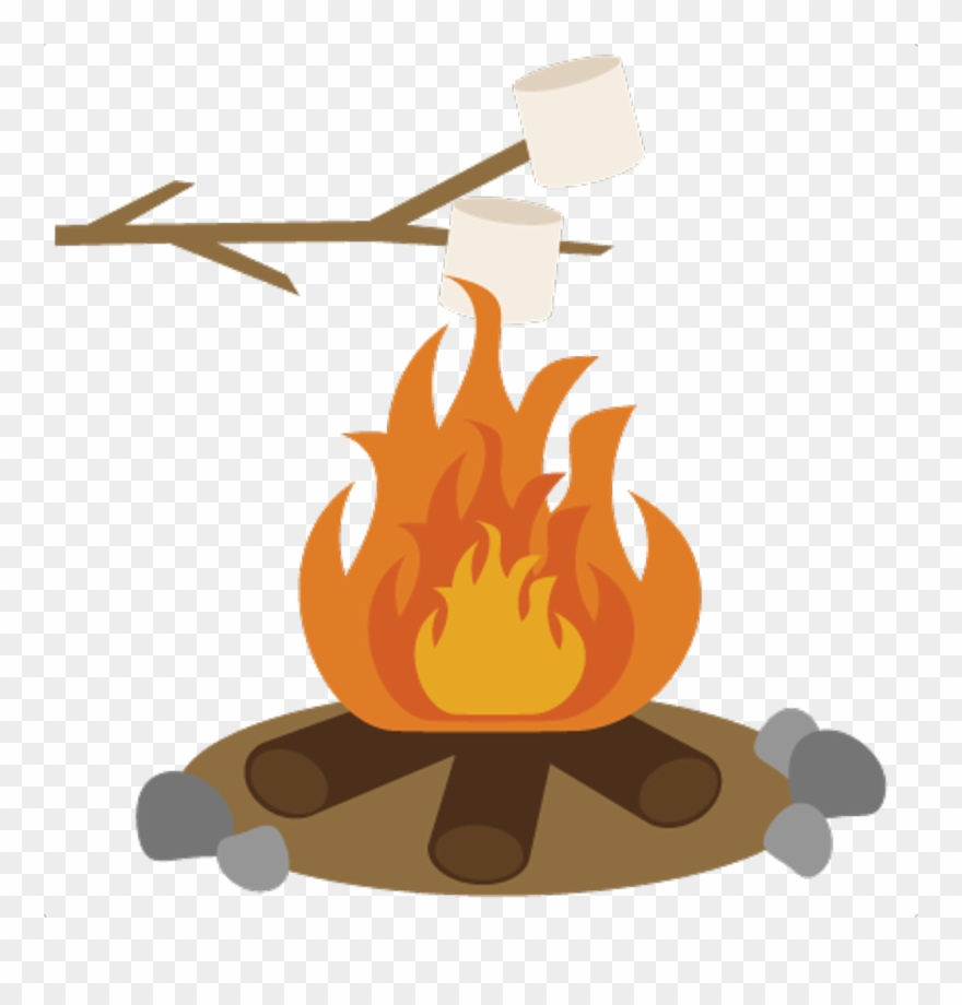 Campingstickerscampfire freetoedit with smores. Campfire clipart smore