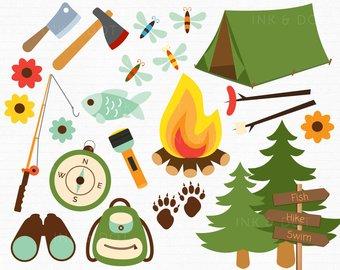 Bonfire etsy camping fathers. Camp clipart bon fire