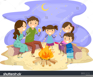 Free images at clker. Clipart beach bonfire