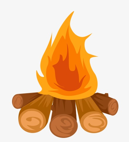 bonfire clipart vector