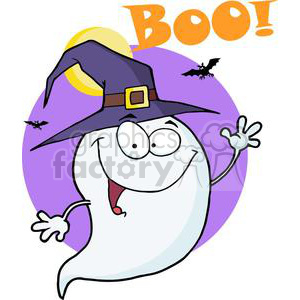 Boo clipart boo halloween. Royalty free happy ghost
