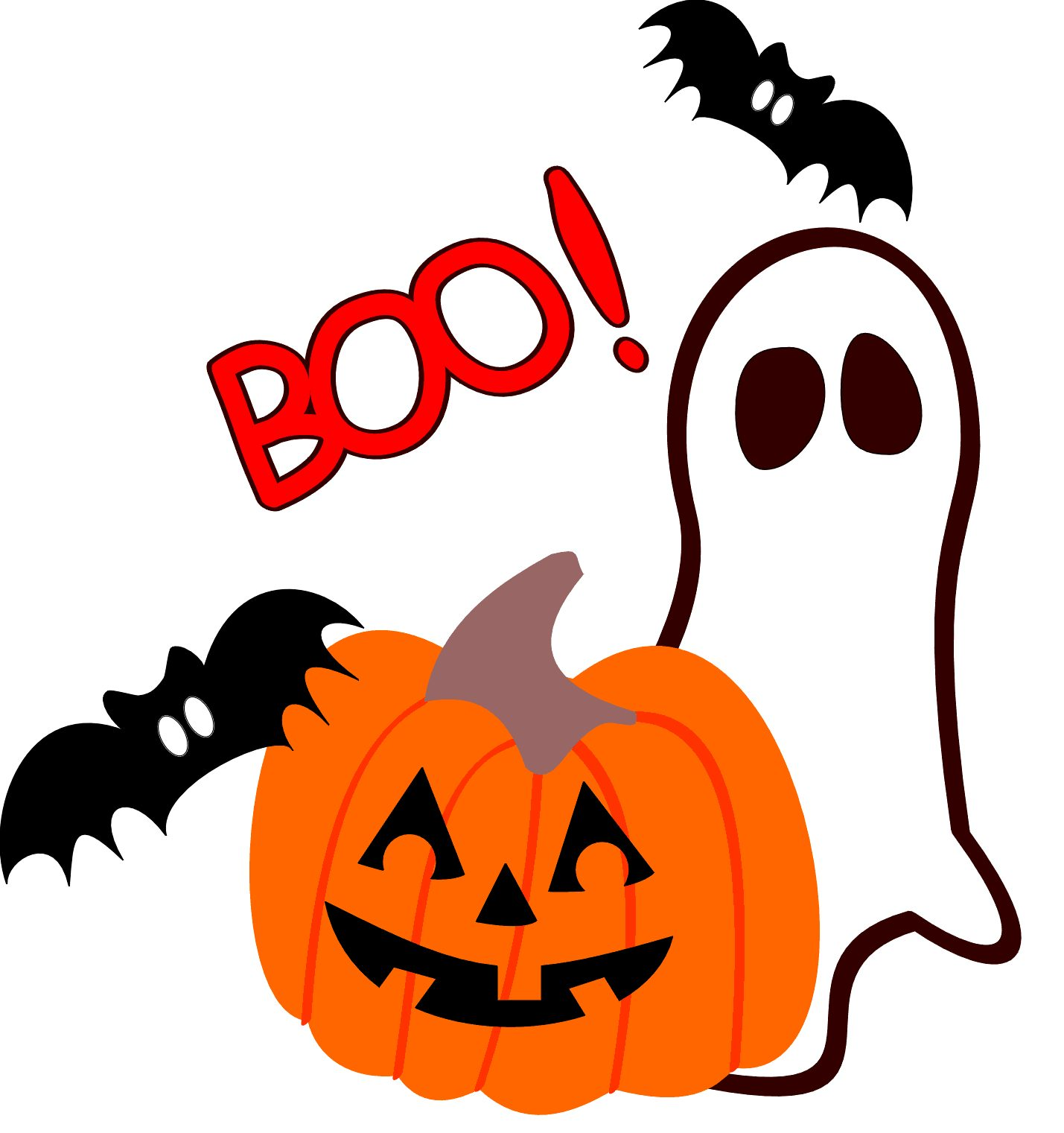 Boo Cute Halloween Clipart