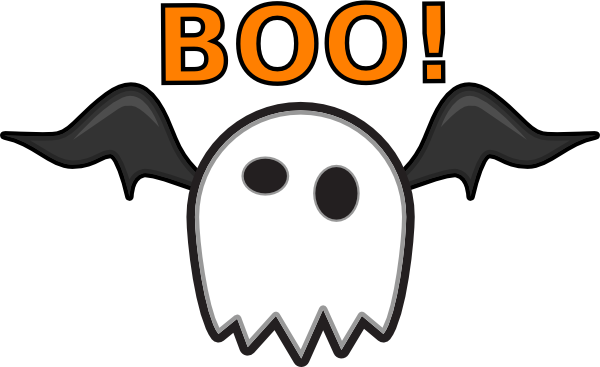 Boo clipart png. Ghost saying clip art