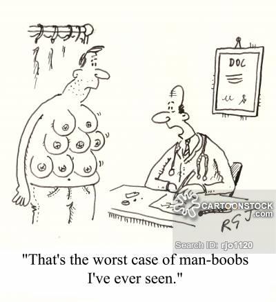 Boobs clipart black and white. Man cartoons comics funny