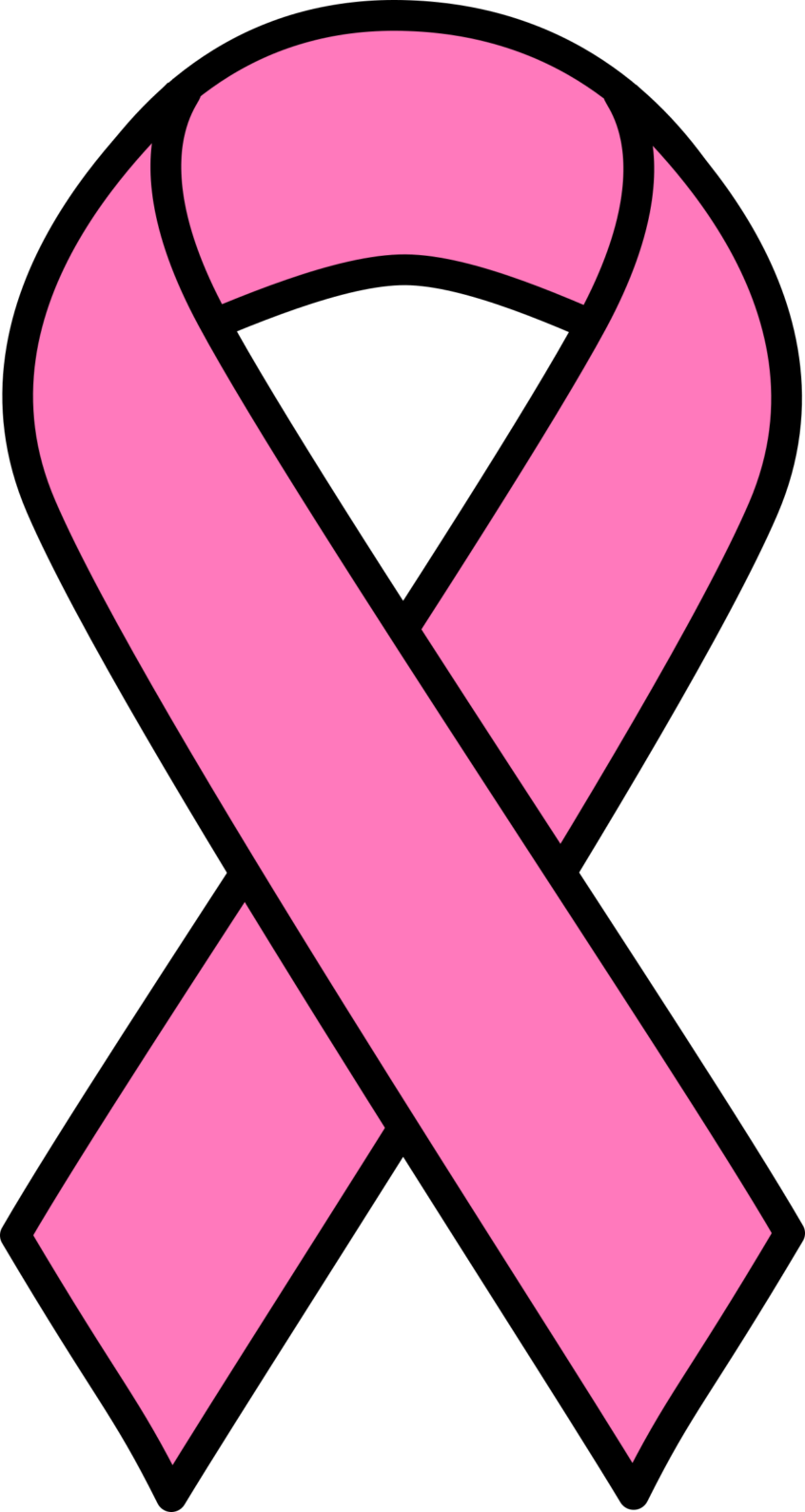 Eating breast cancer away. Win clipart pink window