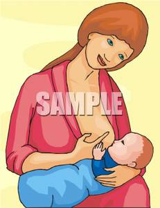 Breast feeding her infant. Boobs clipart mother breastfeeding baby