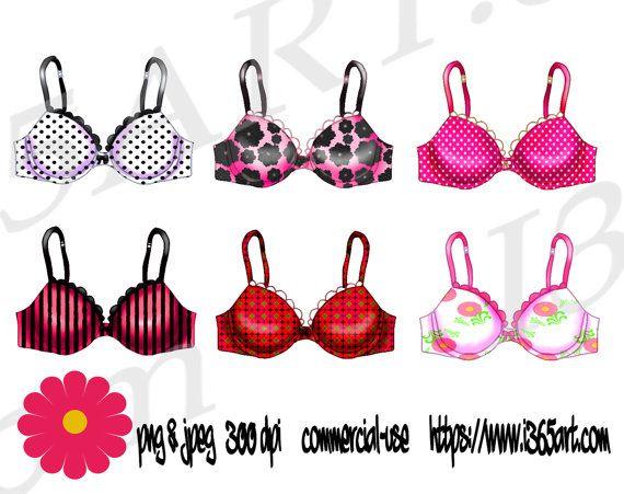 Boobs clipart pink bra. Lingerie set bras clip