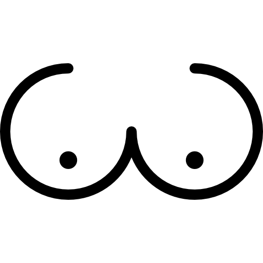 Body parts icon page. Boobs clipart transparent