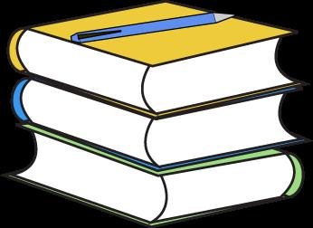 Book clip art images. Textbook clipart pencil