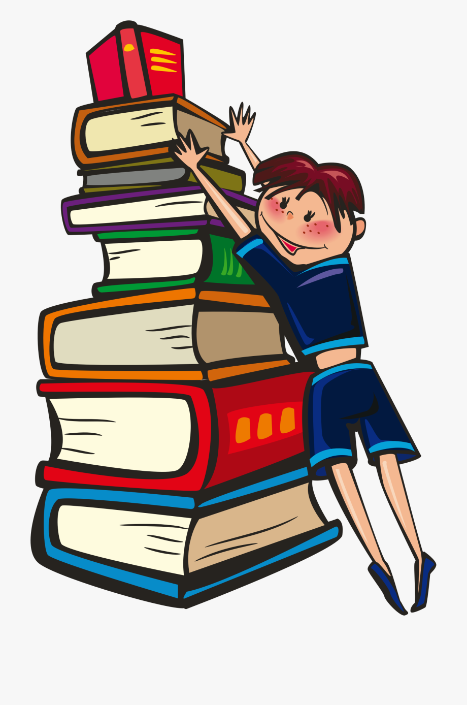 Books our best friends. Book clipart animated