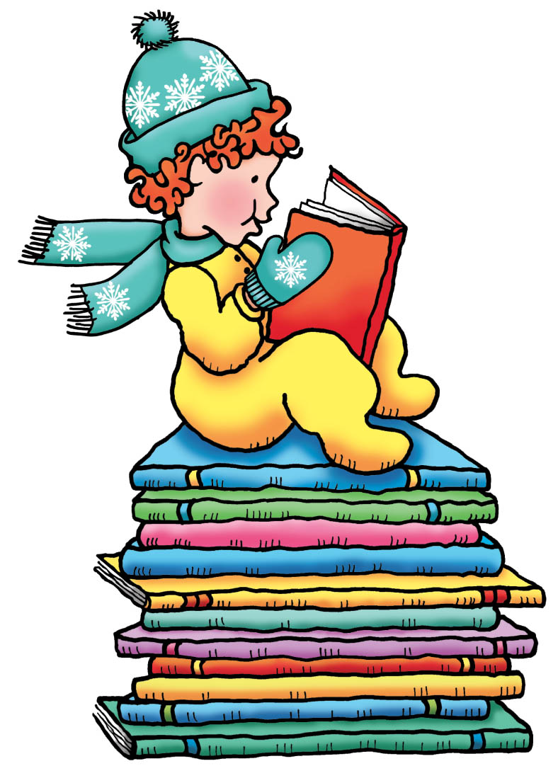 Clipart reading snow. November used book sale