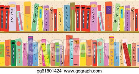 Stock illustration book shelf. Bookshelf clipart animated