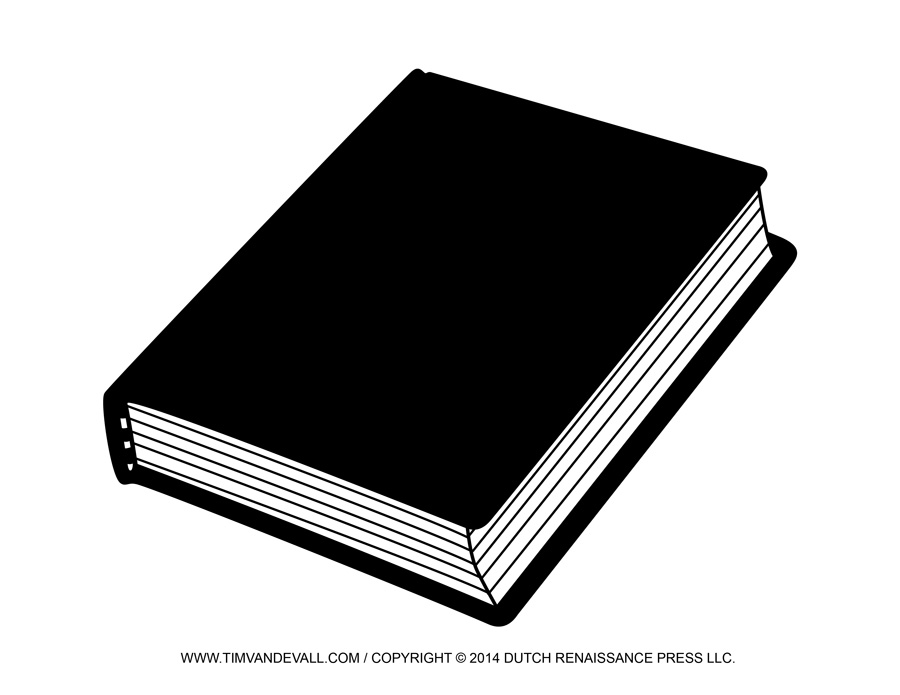 Book clipart black and white. Closed station