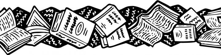 Book border clip art. Books clipart boarder